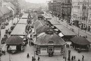 Der Naschmarkt ist mit rund 2,3 Hektar der größte Detailmarkt Wiens, in der jetzigen Form wurde er von Otto Wagner geplant und 1916 eröffnet. ©Marktamtsmuseum