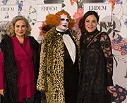Brigitte Karner (actress), Le Pustra (performance artist) & Claudia Oszwald (H&M Country Managerin)