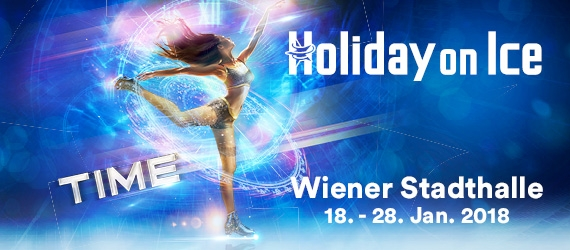 Holiday on Ice TIME vom 18.-28.01.2018 in der Wiener Stadthalle